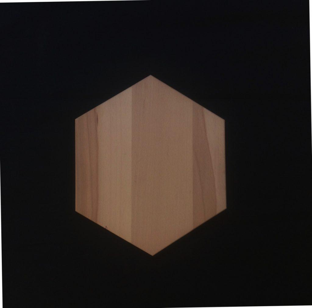Plateau de table hexagone